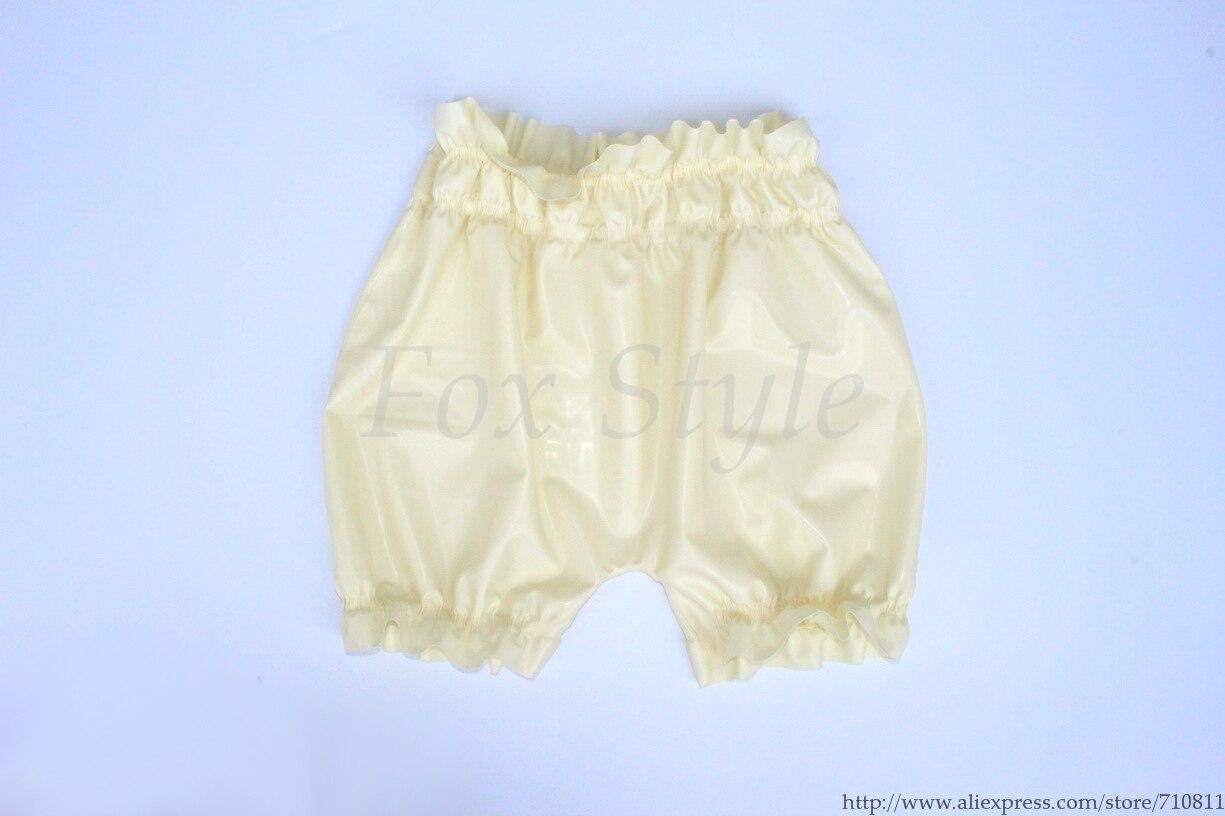Sous-vêtements blancs Sexy pour hommes shorts en latex boxeurs en caoutchouc photo réelle sans lubrifiant