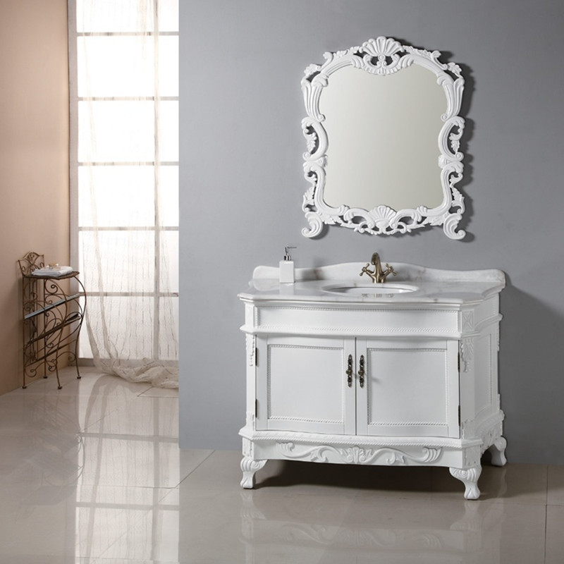 bathroom vanity with high quality white color