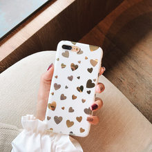 Lovely Mirror Love Heart Phone Case For iphone X XR XS MAX Case For iphone 6 6s 7 8 plus Back Cover Luxury Soft Cases Cute Shell(China)