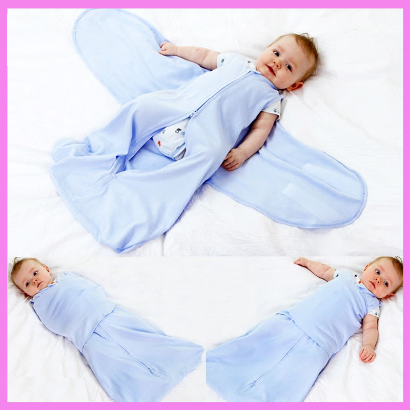 Newborn Baby Stroller Safe Sleeping Bag Zipper Anti Startle Coverlet Sleep Sack Kangaroo Carrier Swaddling Blanket Sleeping Bag