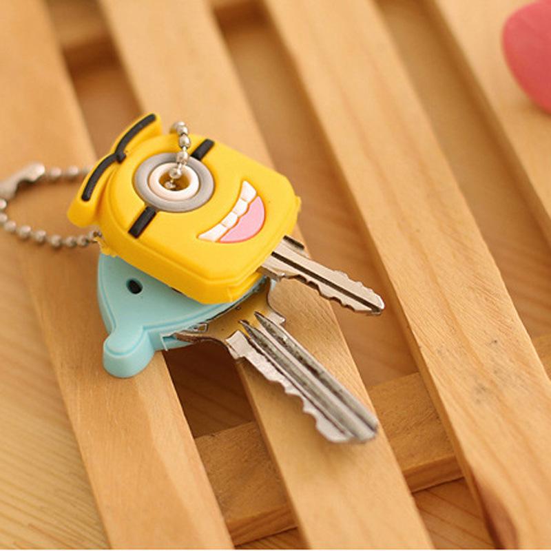 Cartoon Key Wallet Silicone Key Holder Case Cute Key Protective Wallet Hook F016