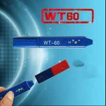 WT-60 дозиметр излучения Гаусс метр Магнитное Обнаружение ручка WT60 определение магнитов NS класс измерения Северный Южный детектор