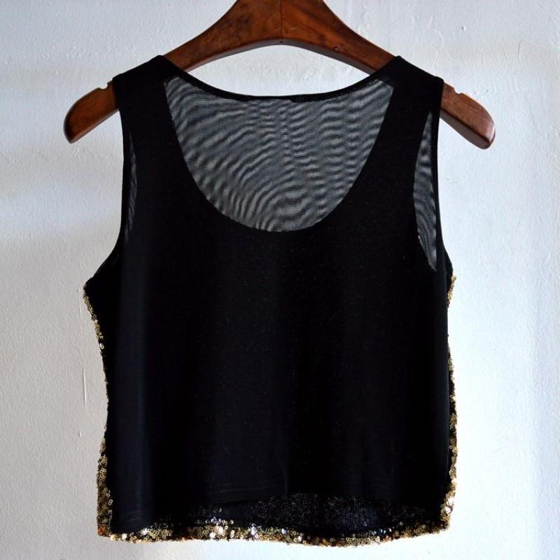 Popular Women Sleeveless Camisole Shirts New Summer Casual Sequin ... 849a8d7fcef0