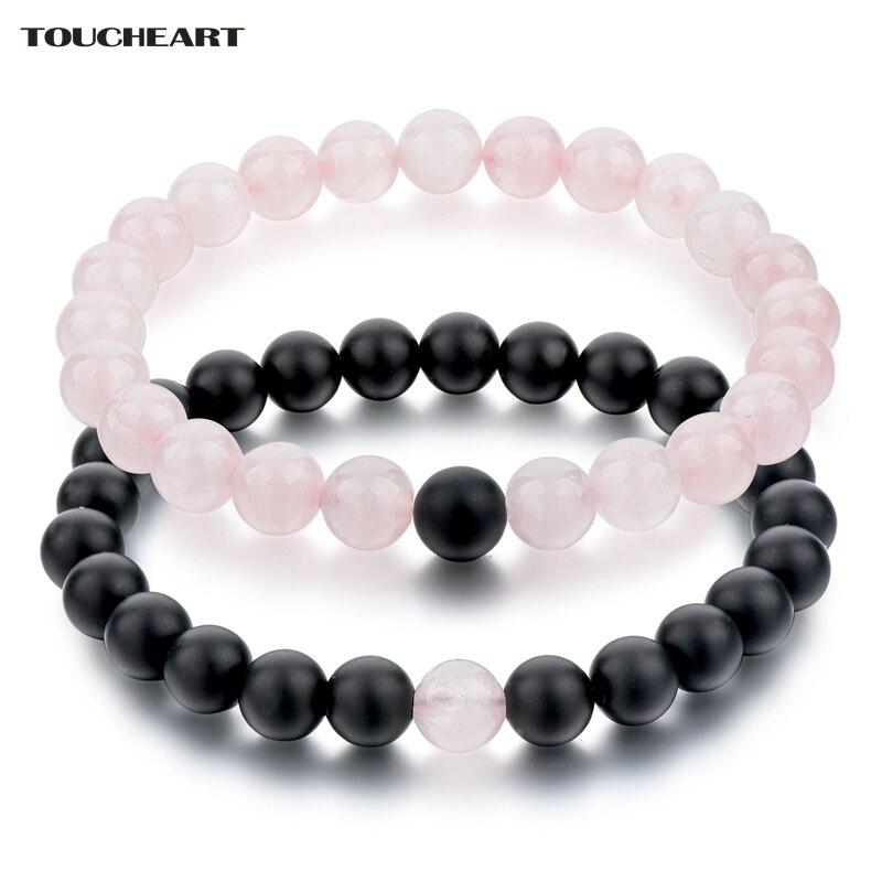 Купить toucheart 8 мм романтические натуральные розовые и черные каменные