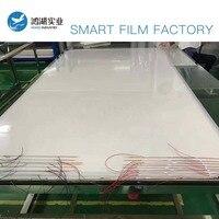 Filme esperto bonde comutável da janela de vidro do filme esperto de 100x100cm pdlc filme inteligente eletrônico