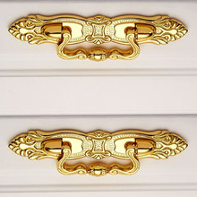 64mm gold shaky drop rings furniture pulls 2.5″ gold drawer cabinet dresser door handles pulls knob with screw free shipping