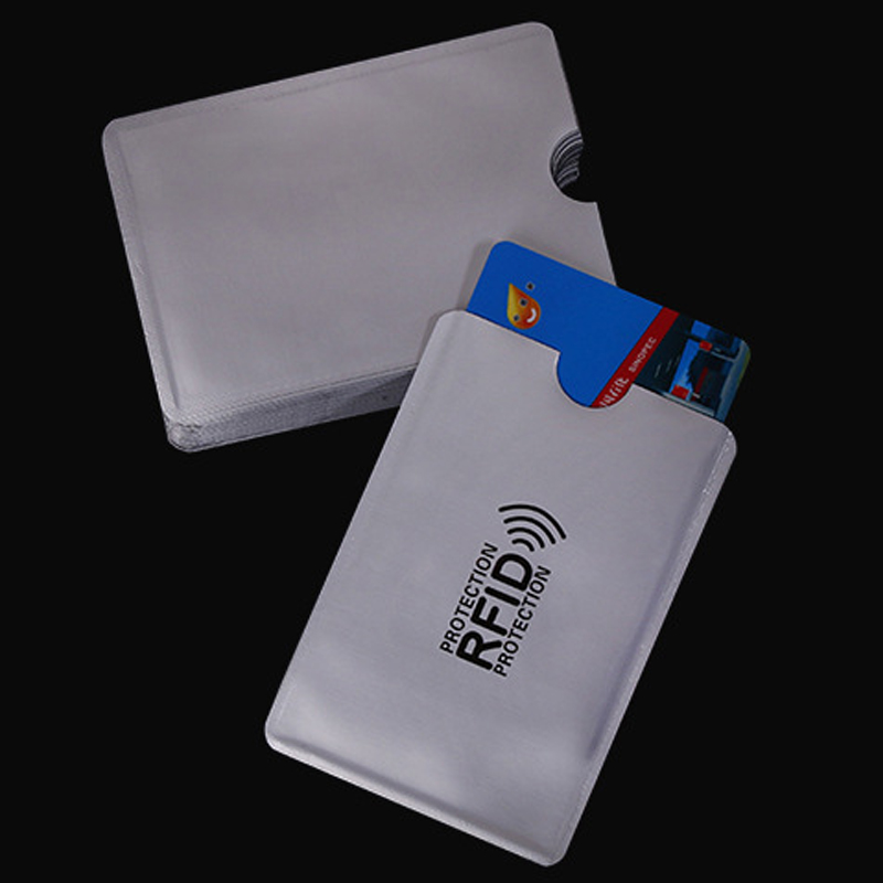 RFID Card Cover Bank Card Blocking Contactless Sleeve Debit Credit Protector Wallet Holder RFID Card Wallet BUS ID Card Holder