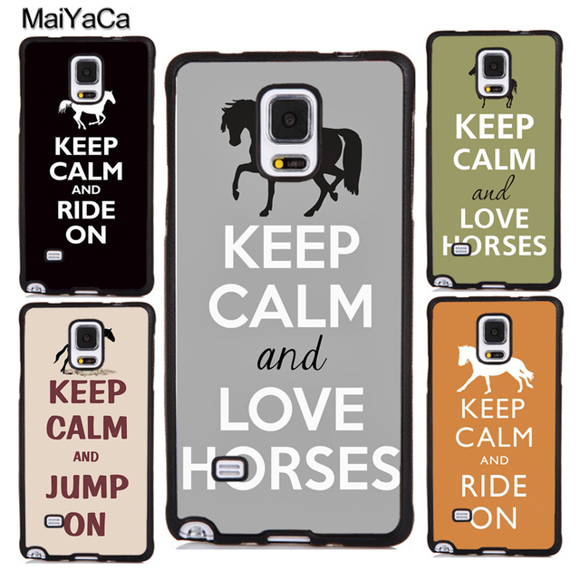 san francisco 6d4ed e5f28 US $4.13 5% OFF MaiYaCa Keep Calm and Ride On Love Horse Phone Cases For  Samsung Galaxy S4 S5 S6 S7 edge plus S8 S9 plus Note 3 4 5 8 Back Cover-in  ...