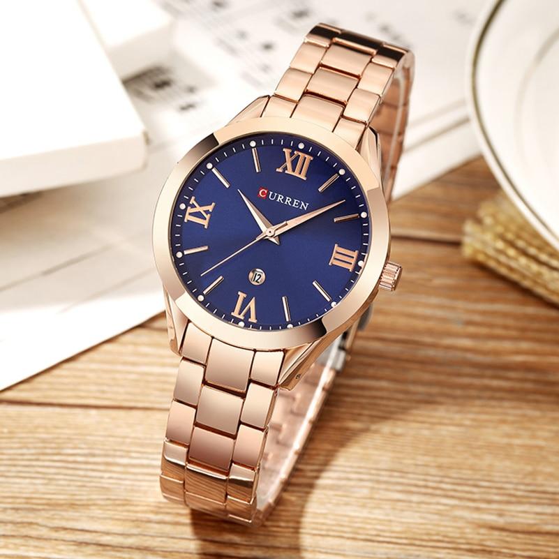 Sieraden Cadeaus voor Dames Luxe Goud Staal Kwarts Horloge Curren - Dameshorloges - Foto 6