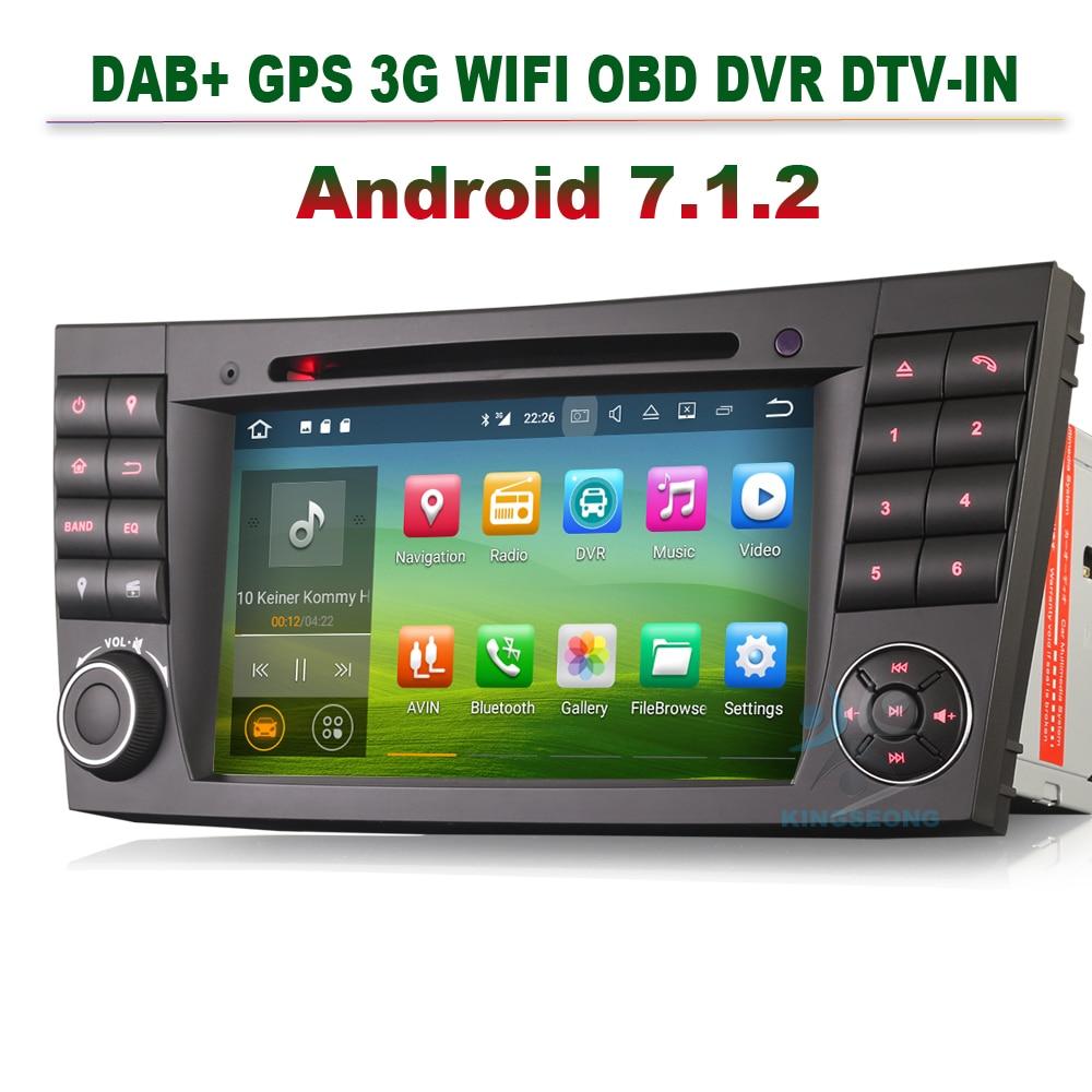"7"" Android 7.1.2 Autoradio GPS DVD DVR Navigation Car Cd"