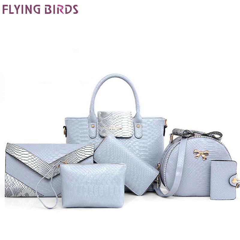 Летящие птицы 6 шт. женские сумки кожаные сумки сумка сумки на плечо дамы cluth женский кошелек Чехол карты мешок денег a4410