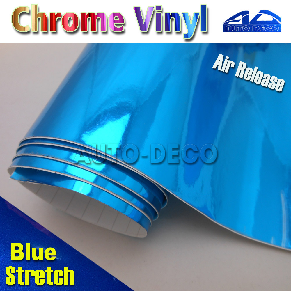 High Quality Blue Chrome Vinyl Film Car Wrap Sticker Foil Sheet With Air Bubble Free Car Transform FedEx Free Shipping 20m/roll 9005 blue film super bright car halogen bulb for headlight with high quality drop shipping