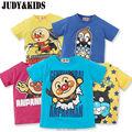 Anpanman Camiseta Para Niños Niñas Tops T-Shirt de Manga Corta Niños Ropa para niños Camisetas de Los Niños Ropa de Primavera y Verano Nuevo Año 2017