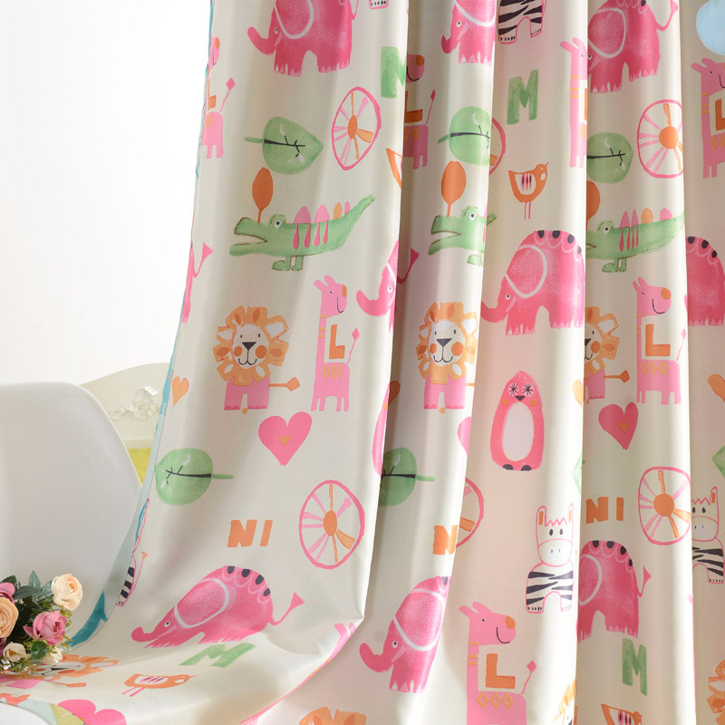 Children Curtains For Kids Room Boys Girls Bedroom Blue Tulle Curtain Baby Pink Window Drapes Custom Made In From Home Garden On Aliexpress
