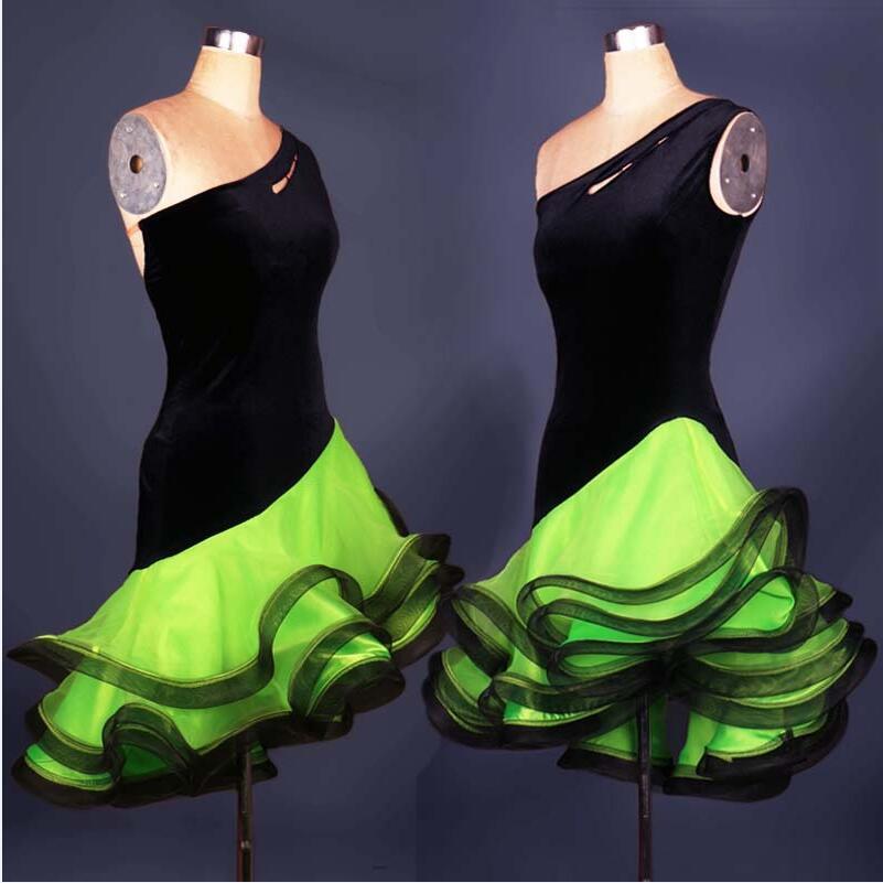Adult/Children Latin Dance Dress Women Girls/Lady Cha Cha/Rumba/Samba/Tango/Ballroom Dance Skirt Vestido De Baile Latino DQ3031