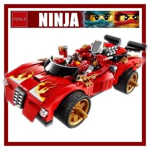 Image 2 - 452pcs Kai Caricatore Attivare Interceptor Auto Tempio Block Set Master Building Blocks Giocattoli 9796 Compatibile Con 70727 ninja