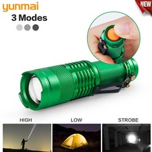 Adjustable Mini LED Flashlight Torch Zoom Focus Torch Lamp Penlight Waterproof 3 Modes Use AA/14500 battery For Camping running 3800lm xml q5 cob portable ultra bright handheld led flashlight with adjustable focus zoom mini torch use aa 14500 battery
