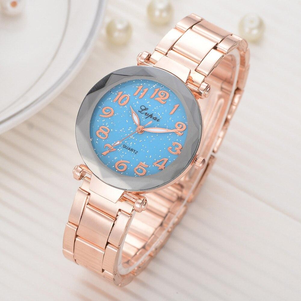 Luxury font b Women s b font Casual Watches Bracelet Watches Women Fashion Clocks relogio Girl