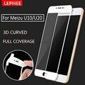LEPHEE Meizu U10 Tempered Glass Meizu U20 3D Curved Full Coverage Screen Protector Carbon Fiber Soft Edge Meizu U 20 10 Film