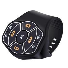 VOBERRY беспроводной Bluetooth 4,0 Руль дистанционного управления медиа кнопка для автомобилей совместима с Android IOS