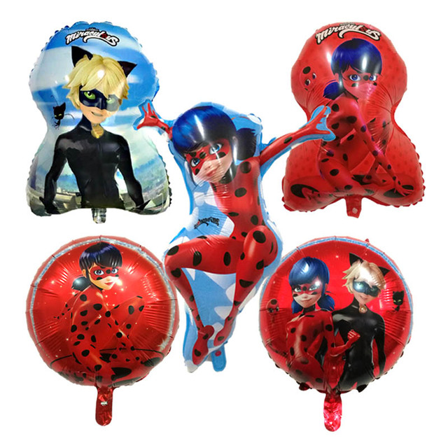 5 Style Ladybug Foil Balloons Inflatable Toys Cute Girl Balloon Birthday Party Decorations Kid Supplies