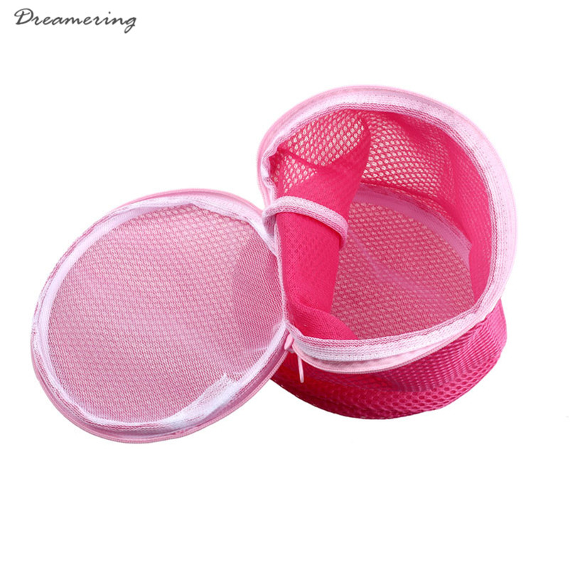 Women Bra Laundry Lingerie Washing Hosiery Saver Protect Mesh Round Bag High Quality Hot Sale Wholesale Free Shipping,Dec 29