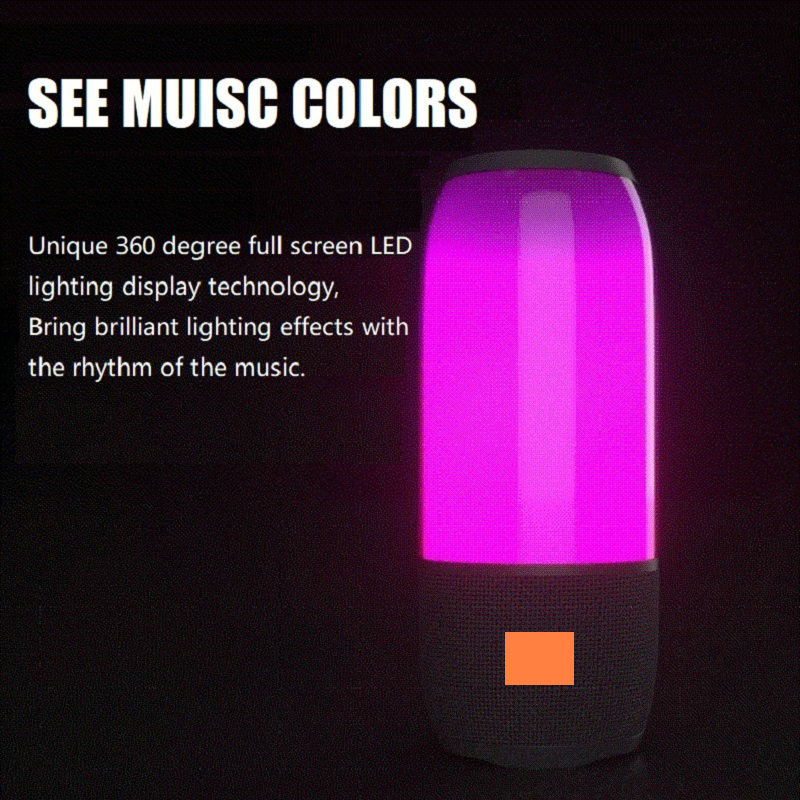 Pulse 3 Cool LED Wireless Bluetooth Speaker Super Bass Stereo Loud Speaker Long Standby Soundwoofer fm portable bluetooth speaker wireless stereo loud speaker super bass sound aux