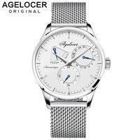 AGELOCER для мужчин s часы 2019 Швейцарский лучший бренд класса люкс часы для мужчин деловые автоматические часы с день указатель календари мощно