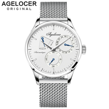 AGELOCER Mens Watches 2019 Swiss Top Brand Luxury Watch Men Business Automatic Watch With Day Pointer