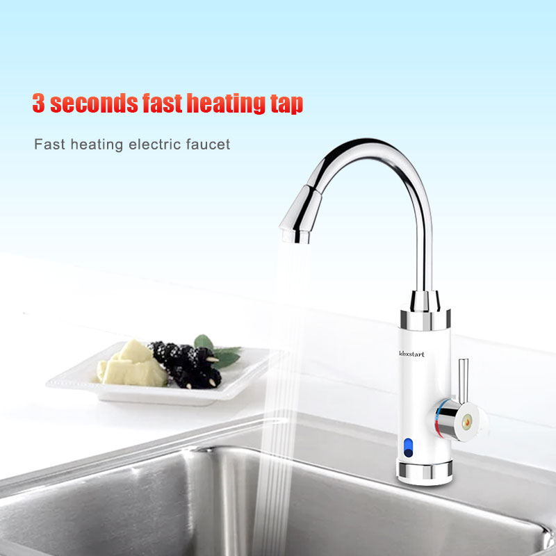 Electric Tankless Instant Hot Water Heater Faucet Bath Kitchen Heating Tap 220V
