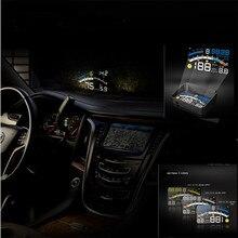 2016 новая версия Универсальная Автомобильная HUD Head Up Display Для OBD2 EOBD АВТОМОБИЛЕЙ, 4E Многофункциональный АВТО HUD дисплей