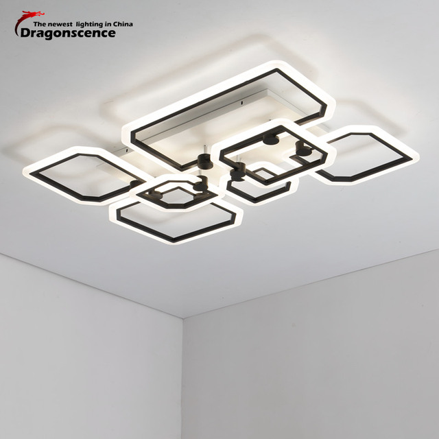 Dragonscence Modern Led Ceiling chandelier Lighting luxury acrylic Lustre Chandelier for Bedroom Living Room Indoor lamp