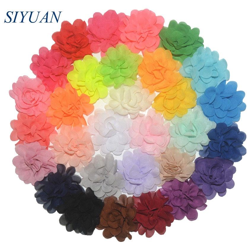 300pcs lot 20 Color U Pick 2 Inch Small Chiffon Petals Flowers Flat Back DIY Craft