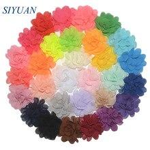 300 개/몫 20 색 u 선택 2 인치 작은 쉬폰 꽃잎 꽃 플랫 다시 diy 공예 웨딩 장식 도매 공급 th50