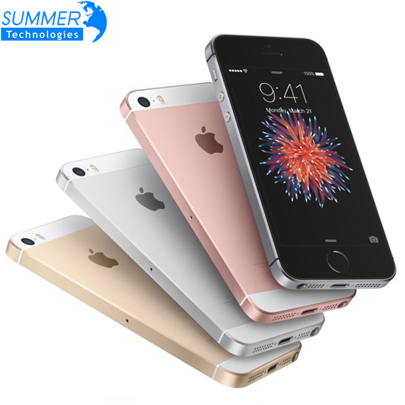 Apple iPhone Original desbloqueado teléfono móvil de la huella dactilar A9 iOS 9/16/32/64GB ROM Dual Core 4G LTE 2GB RAM 4,0 'Smartphone IPhone SE de 2GB de RAM 16GB/32GB/64GB/128GB ROM 4,0