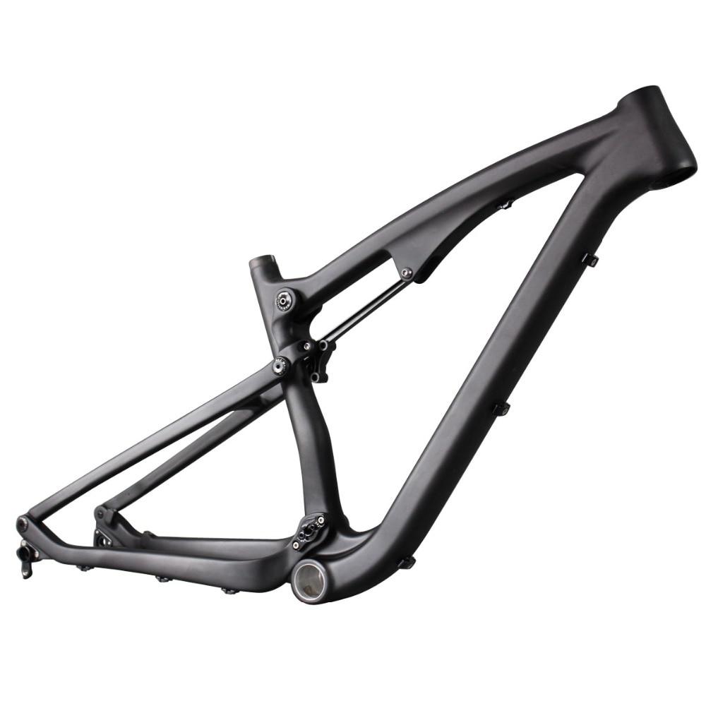2016 de alta qualidade full frame suspensão quadros 27.5er 650B montanha mtb quadro de bicicleta de fibra de carbono UD mate através do eixo compatiable