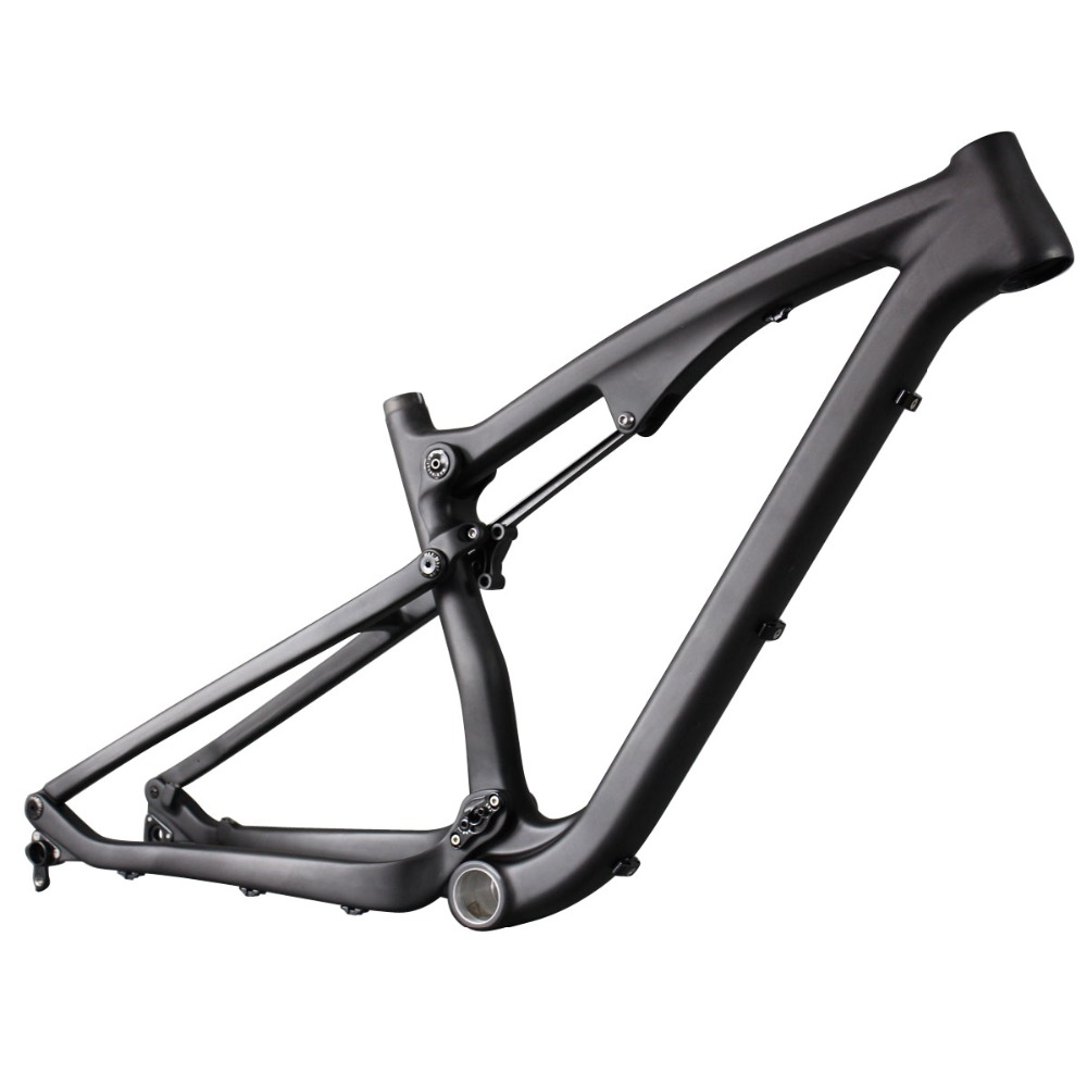 2016 high quality full suspension frame carbon fiber 650B mountain frames 27.5er  mtb bike frame UD matt thru axle compatiable 17 inch mtb bike raw frame 26 aluminium alloy mountain bike frame bike suspension frame bicycle frame