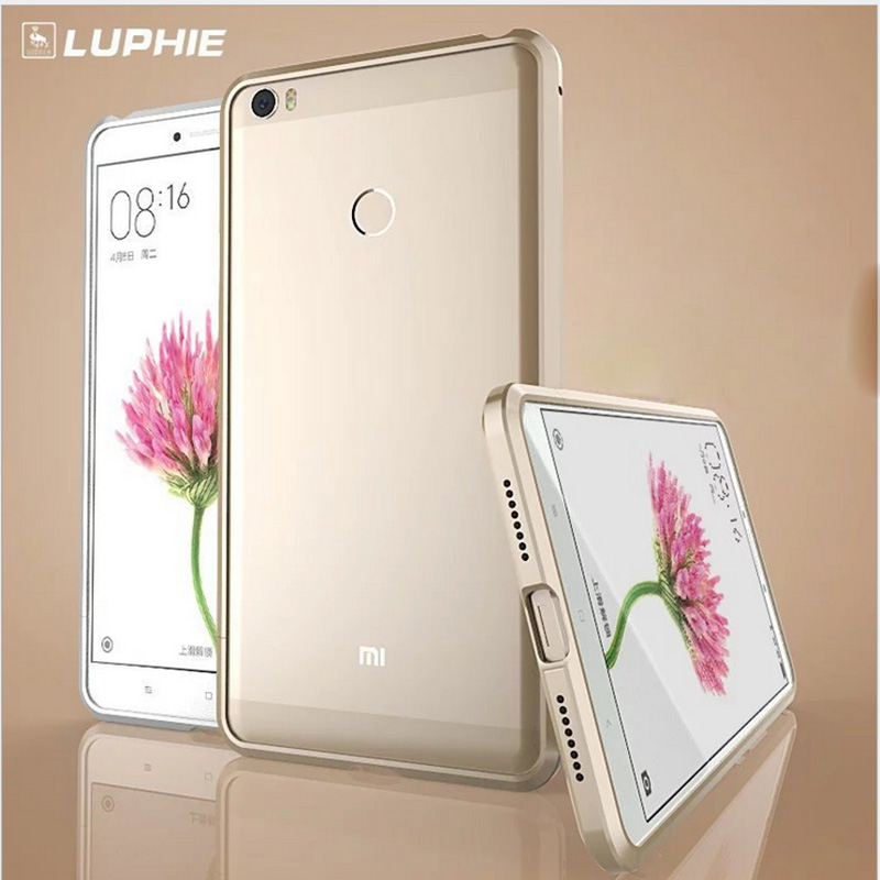 "bilder für Xiaomi Mi Max PRO Fall abdeckung 6,44 ""aluminium Rahmen Antiklopf Metallstoßdämpfer Funda xiaomi max pro prime Telefon fällen shell Aufkleber"