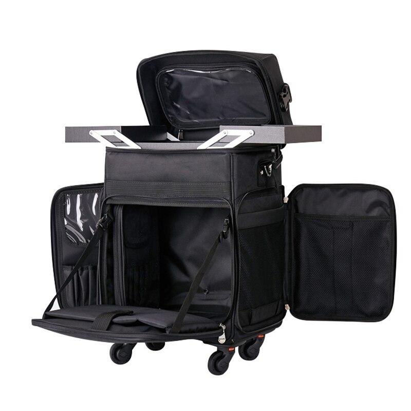 Carrylove 다기능 고급 수하물 트롤리 자수 옥스포드 천 한국 뷰티 네일 쥬얼리 메이크업 가방-에서여행용 가방부터 수화물 & 가방 의  그룹 1