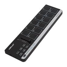 World EasyPad.12 барабанные колодки MIDI контроллер портативный мини MIDI клавиатура контроллер с USB кабелем
