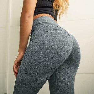 Image 5 - Normov leggings de fitness mulheres de cintura alta workout push up leggins calças femininas casuais mujer retalhos leggings mais tamanho feminino