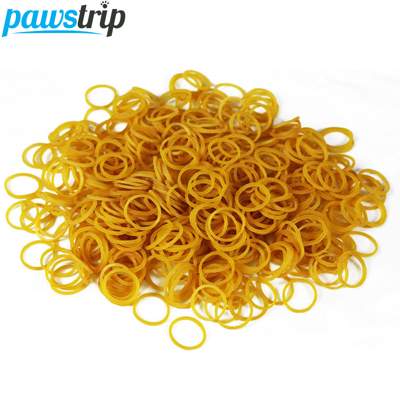 200pcs/lot Mini Pet Dog Rubber Bands About Diameter 10mm Grooming Dog Hair Bands