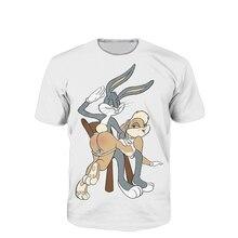 T Shirt Anime Hip Hop Bugs Bunny Lola Bunny Jersey Spanking 3d T Shirt Funny Men Women Baseball Jersey Plus size S-5XL R793