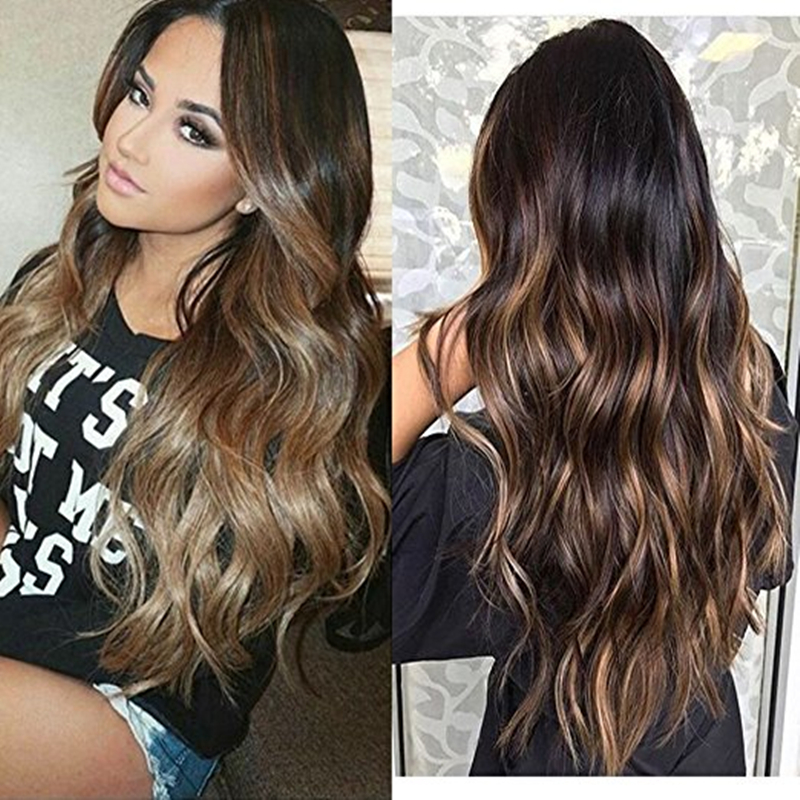 Full Shine Skin Weft Professional Hair Extensions Balayage