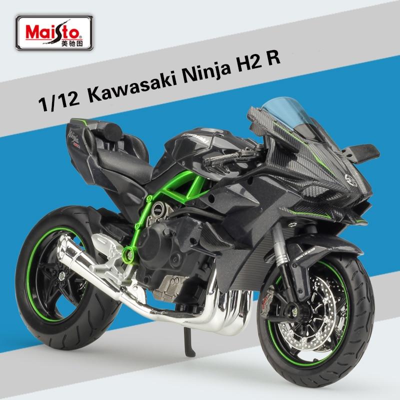 Maisto Kawasaki Ninja H2 R in dark grey 1:12 scale model from