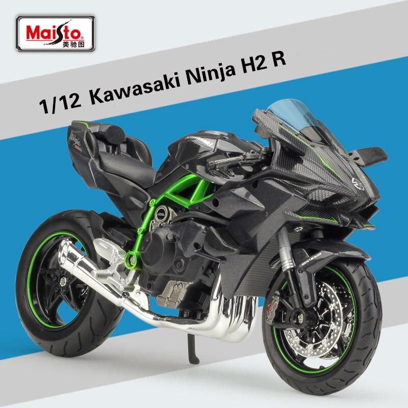 NEW MAISTO 1:12 Kawasaki Ninja H2R H2 R Motorcycle Diecast Metal Bike Model  For Kids Birthday Gifts