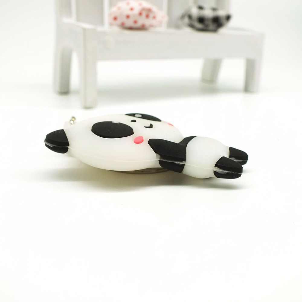 Venta al por mayor panda llaveros Kung Fu lindo anime gato oso dibujos animados cara silicona PVC llavero kawaii presente mujer regalo # A109