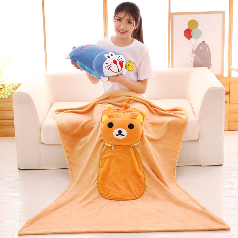 Batteries Lovely Fruit Plush Blanket Cute Cartoon Velvet Doll Pillow Cushion Nap Car Sofa Bolster Air Conditioning Pillow Blanket 2 In 1 Power Source