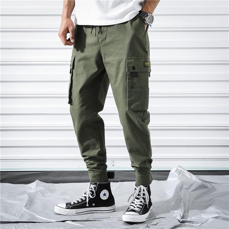 2019 Military Splice Men Cargo Pants Multi-Pocket Joggers Tactical Trousers Men Hip Hop Streetwear Sweaptpants S-6XL LBZ121