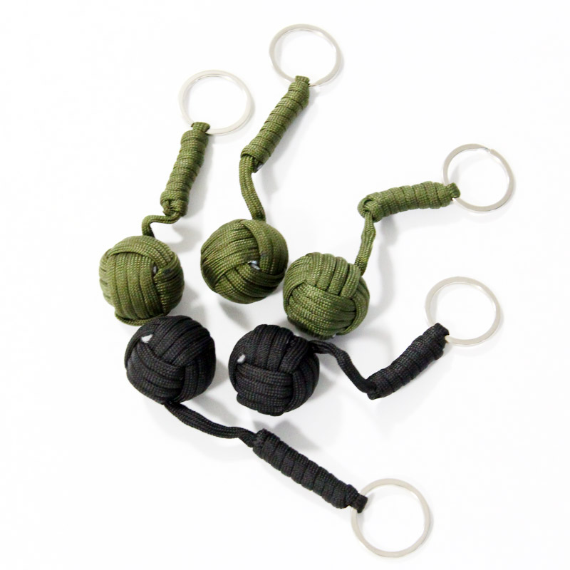 5pcs/lot, Tactical Para Cord Monkey Fist, Knife Lanyard, Chrome Steel Ball, Outdoor Survival Kits ...
